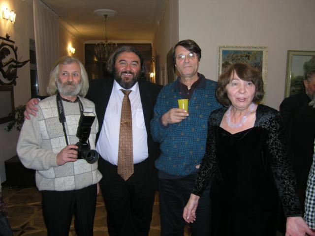 С Ю. Косиным, И. Ждановым и Л. Бураго. Киев