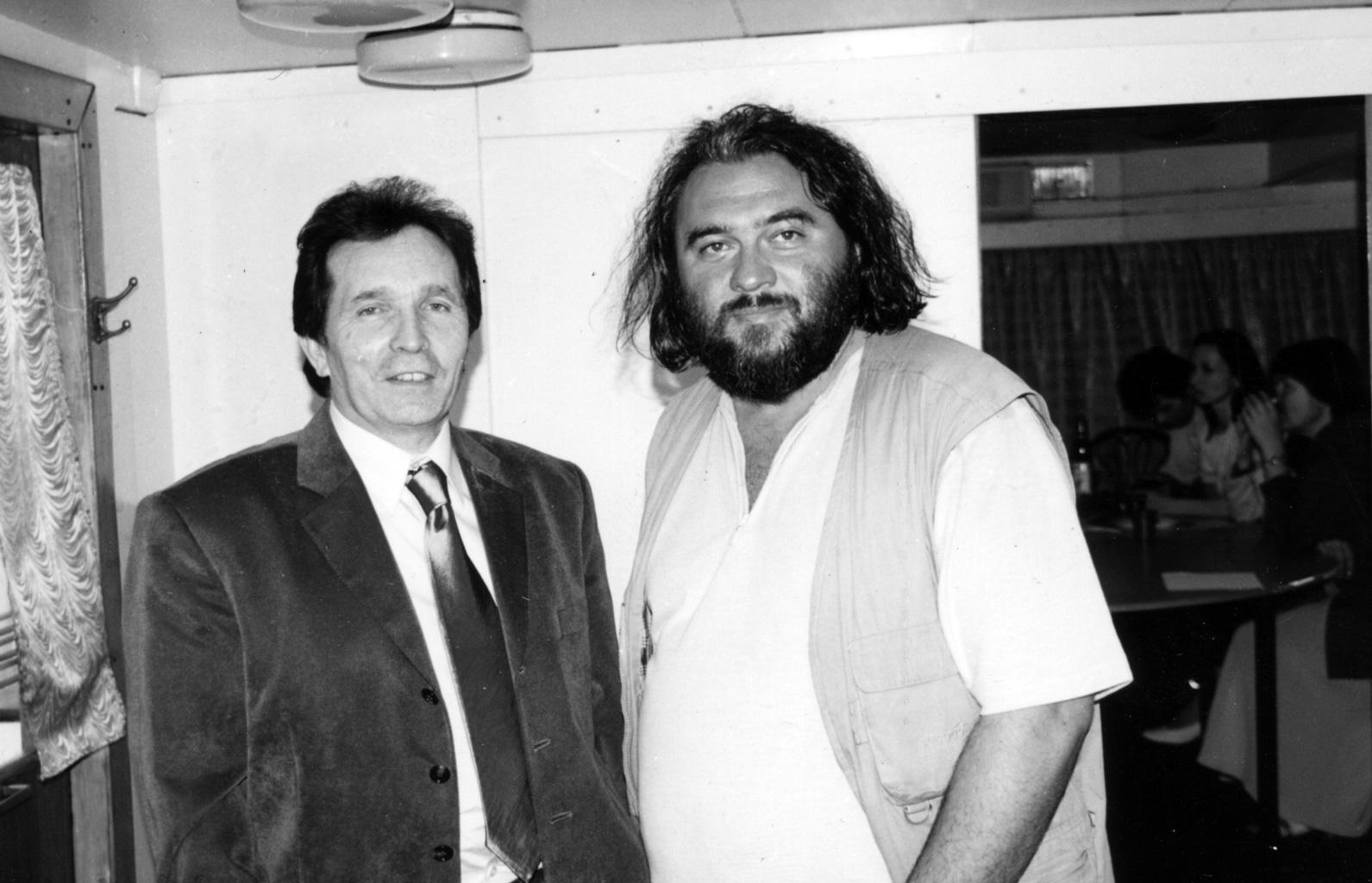 С поэтом и педагогом А. К. Мойсиенко. 2003