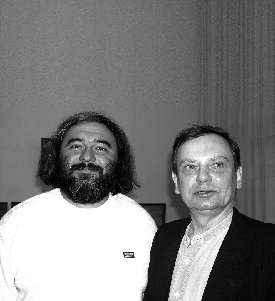 С художником Игорем Дыченко. 2003