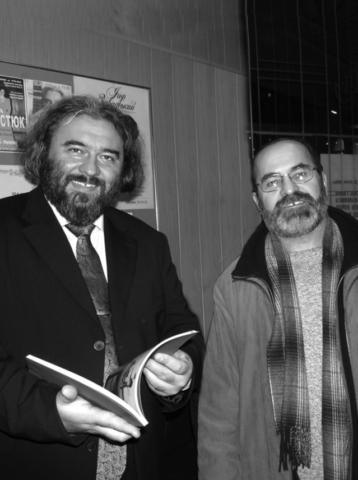 Со скульптором Алексеем Владимировым. 2012