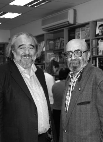 С поэтом Игорем Лапинским. 2018
