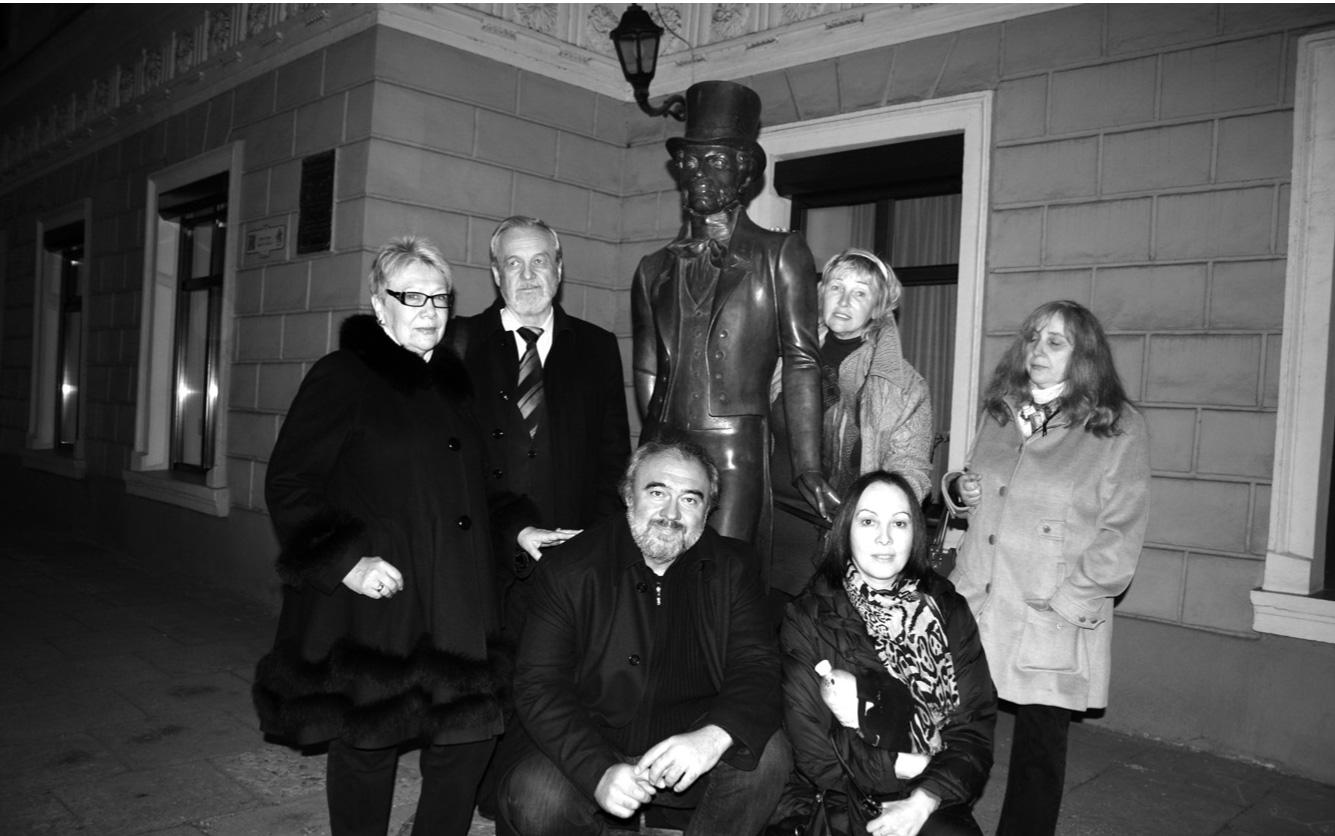 У памятника А.С. Пушкину в Одессе. 2016